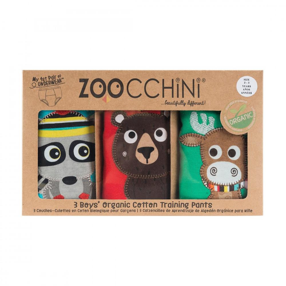122-003-013 Zoocchini Tréningové nohavičky Set3ks chlapec Kamaráti z lesa  2-3 r