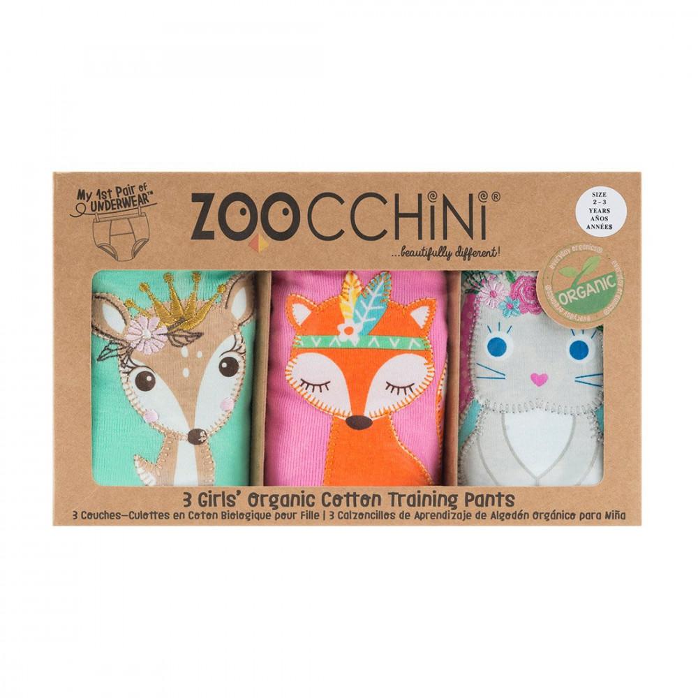 122-003-015 Zoocchini Tréningové nohavičky Kamaráti z lesa dievča 2 - 3 r