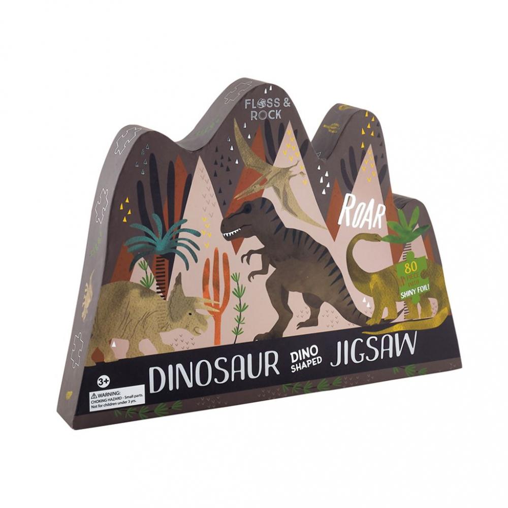 38P3437 Floss&Rock Puzzle Dinosaurus 80ks