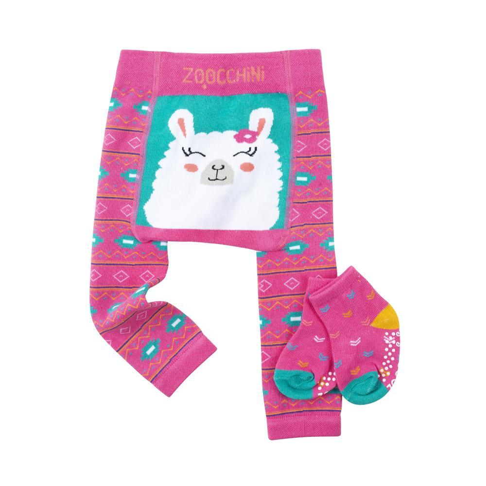 122-014-023 Zoocchini Set legínky a ponožky Lama  Laney 6 - 12 m