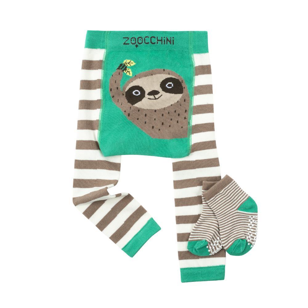 122-014-019 Zoocchini Set legínky a ponožky Leňochod 6 - 12 m