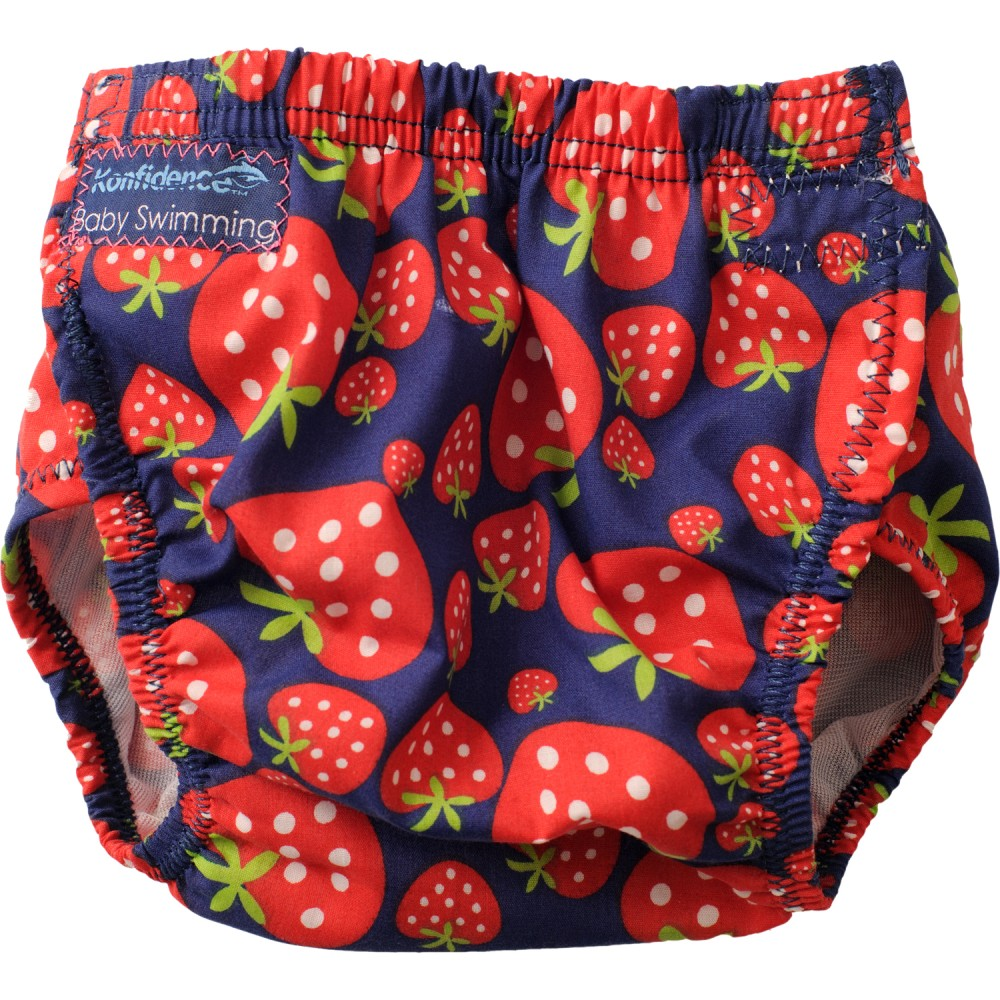 304-s Konfidence Aquanappy nastaviteľné plavky Strawberry