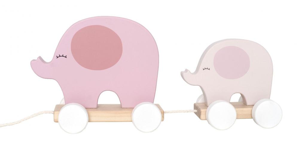 C2514 Jabadabado Hračka na ťahanie slon ružový
