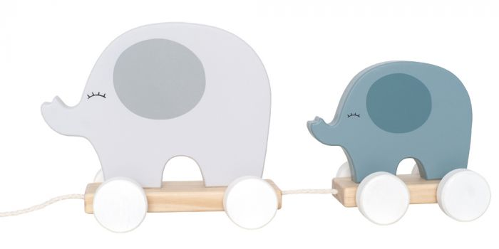 C2515 Jabadabado Hračka na ťahanie slon sivý