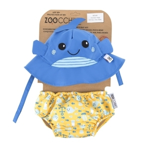 122-010-026  Zoocchini UV Set klobúčik a plavky Veľryba 6 - 12 m
