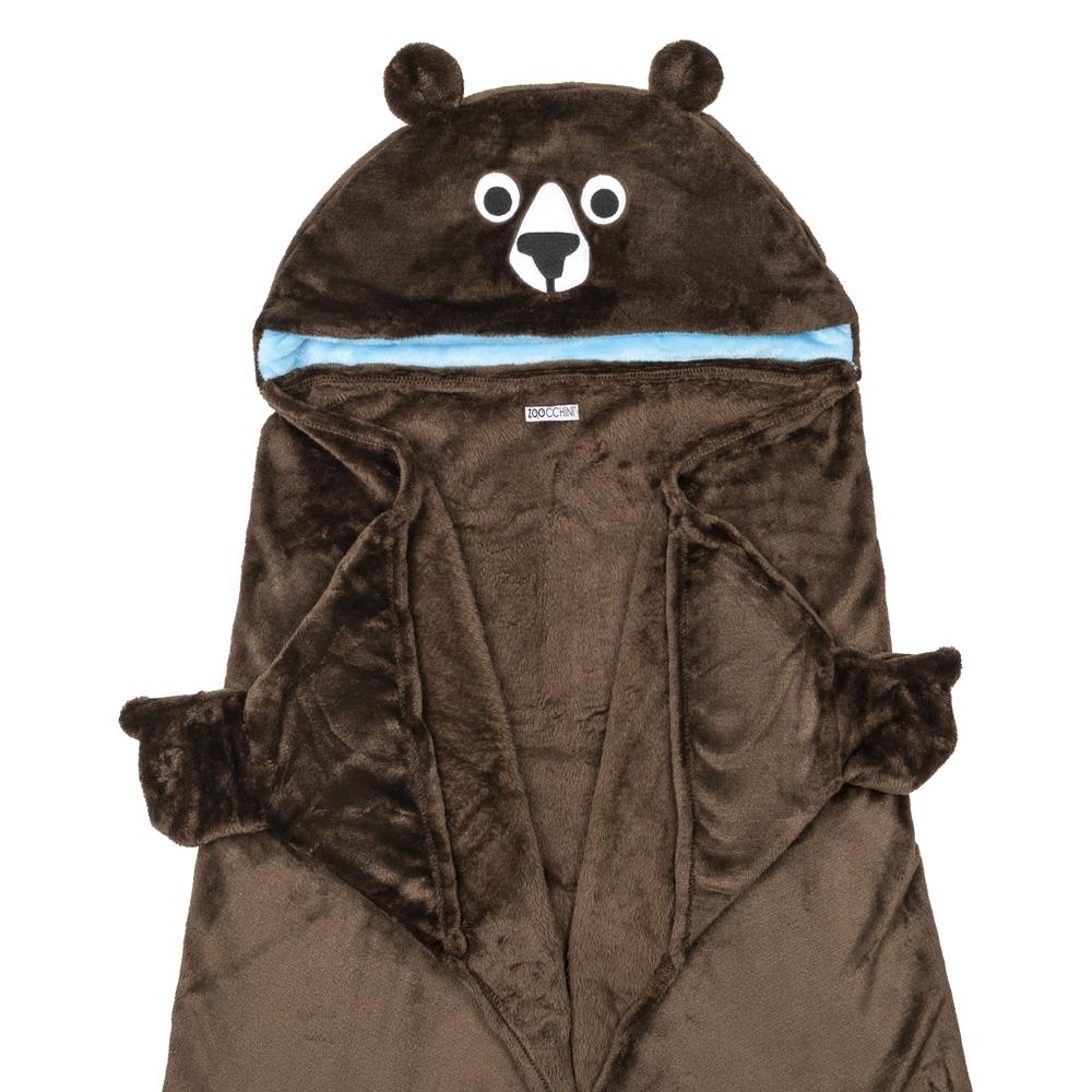 122-023-004 Zoocchini Deka s kapucňou Medveď