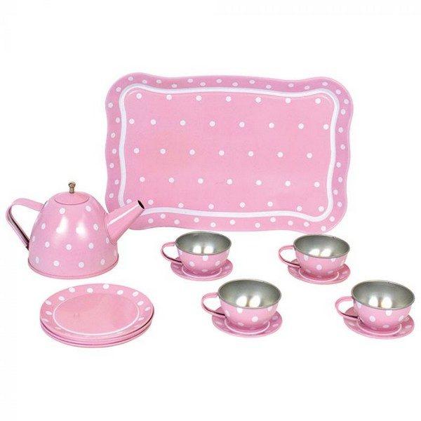 G12011 Jabadabado Čajový set v kufríku ružový
