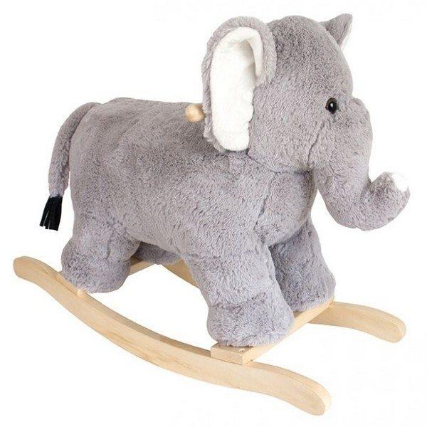 H14000 Jabadabado Plyšový hojdací slon