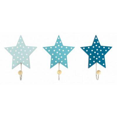 R16025 Jabadabado Dekoratívne háčiky hviezda modrá