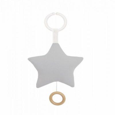 N0121 Jabadabado Hudobná hračka hviezda sivá