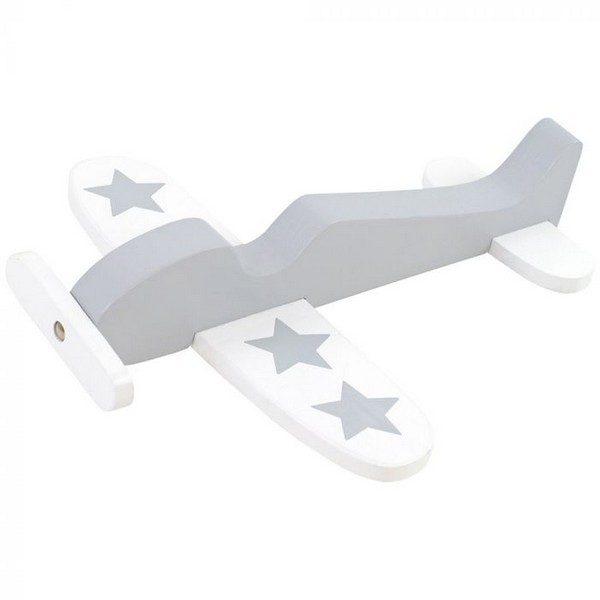 W7095 Jabadabado Drevené lietadlo sivé