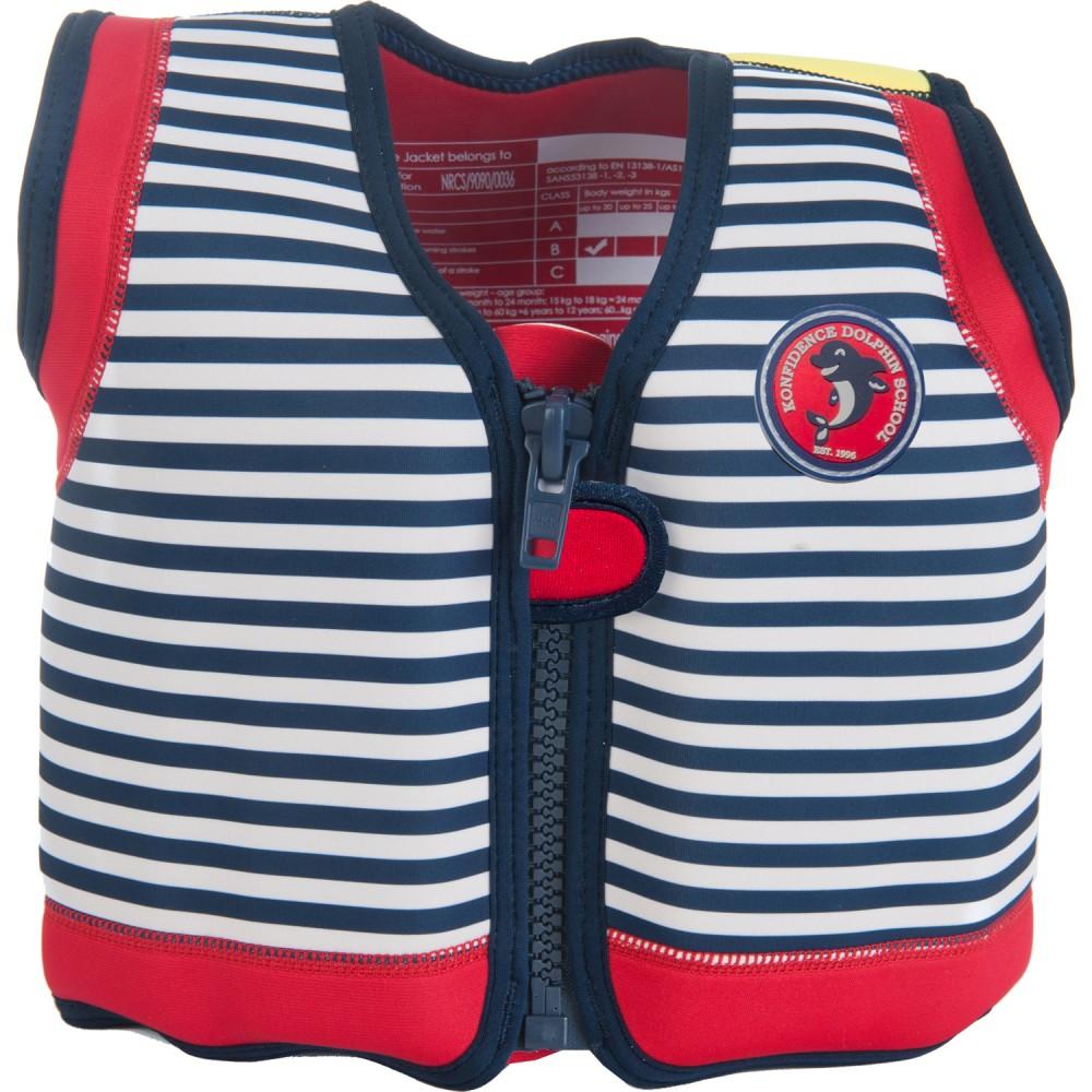 306-04 Konfidence Jacket Vesta na učenie plávania Hamptons Blue Stripe 15m-3r