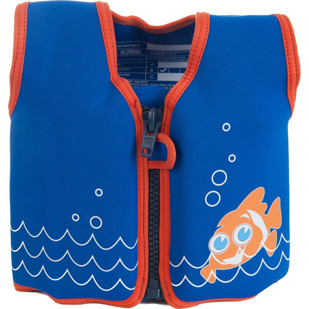 306-16 Konfidence Jacket Vesta na učenie plávania Clownfish 15m-3r