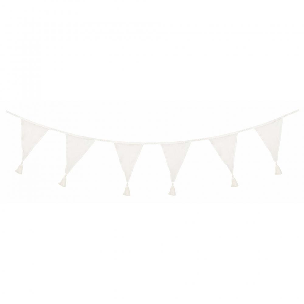 K023 Jabadabado Vlajky textilné biele