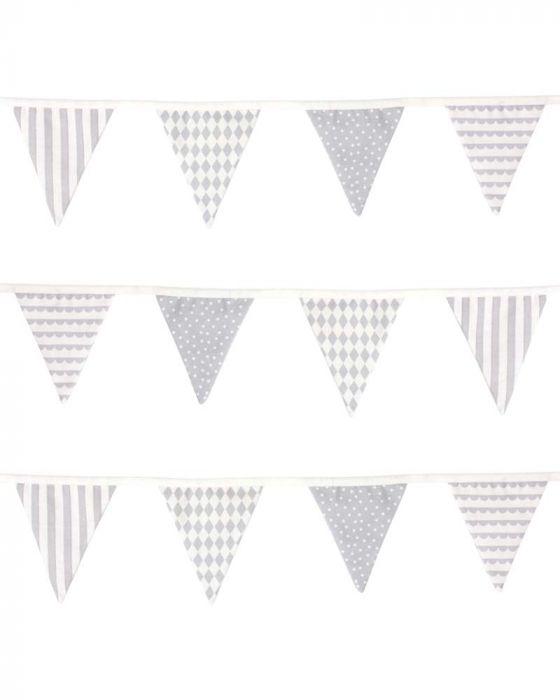 K104 Jabadabado Dekoratívne vlajky sivá