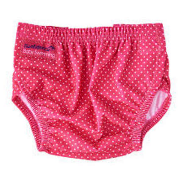 304-pd Konfidence Aquanappy nastaviteľné plavky Pink Dots