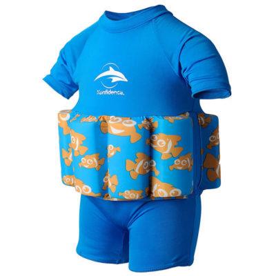 307-08 Konfidence Floatsuit Plavky na učenie plávania Clownfish 2-3r