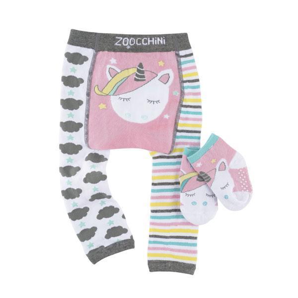 122-014-008 Zoocchini Set  legínky a ponožky Jednorožec Allie  12 - 18 m