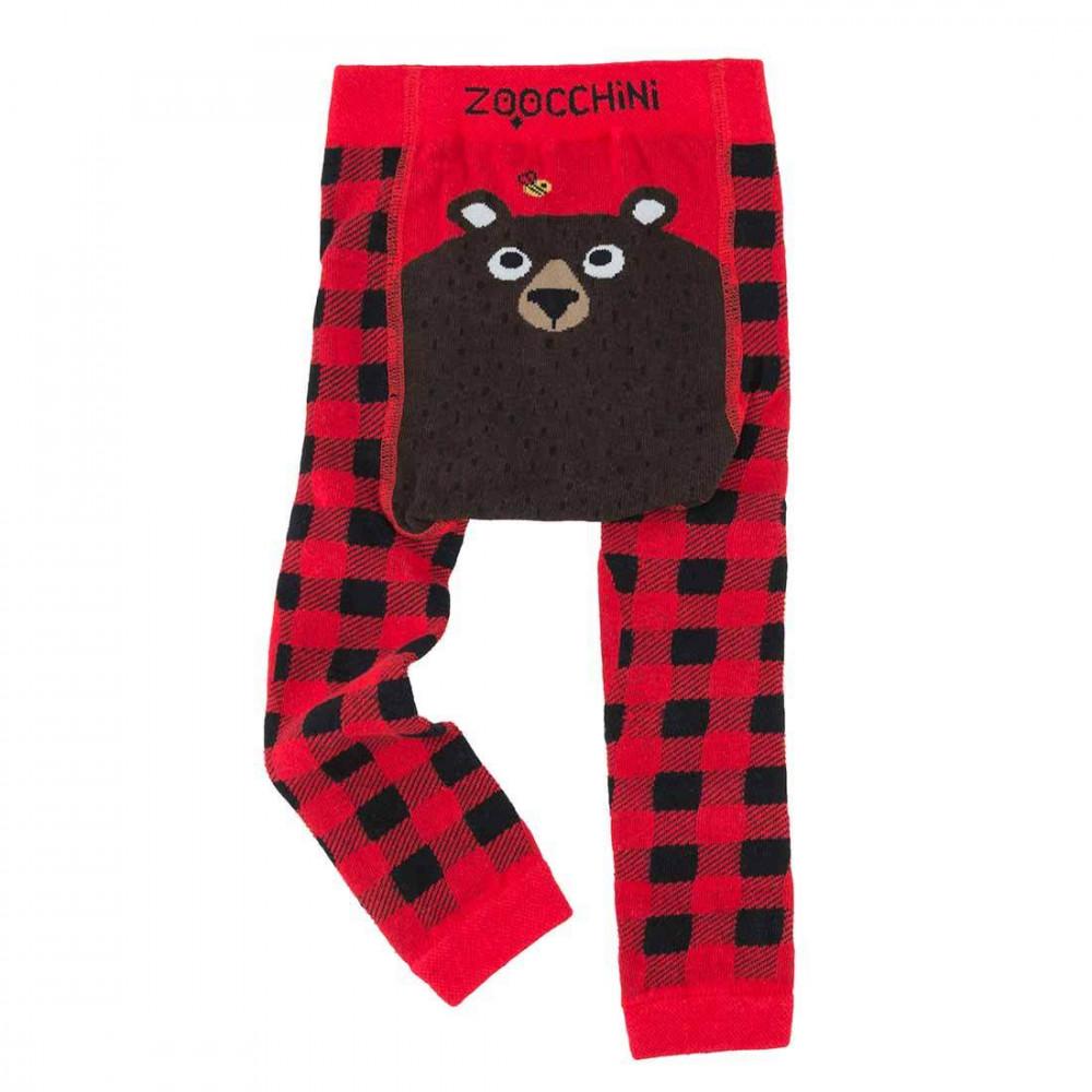 122-014-015 Zoocchini Set  legínky a ponožky Medveď  6 - 12 m