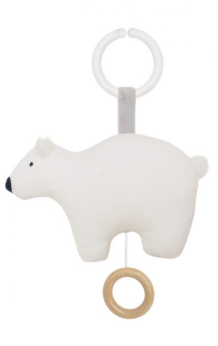 N0122 Jabadabado Hudobná hračka polárny medveď