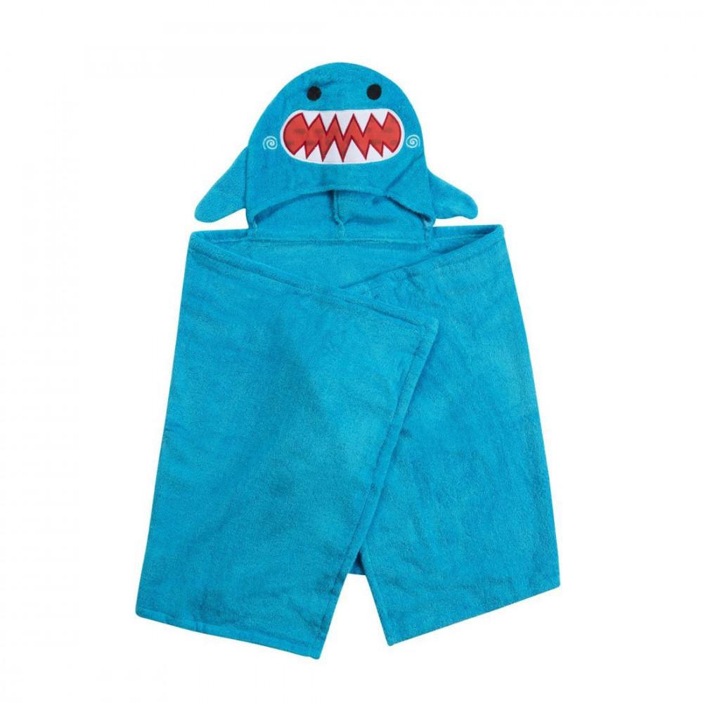 122-001-009 Zoocchini osuška s kapucňou veľká Žralok