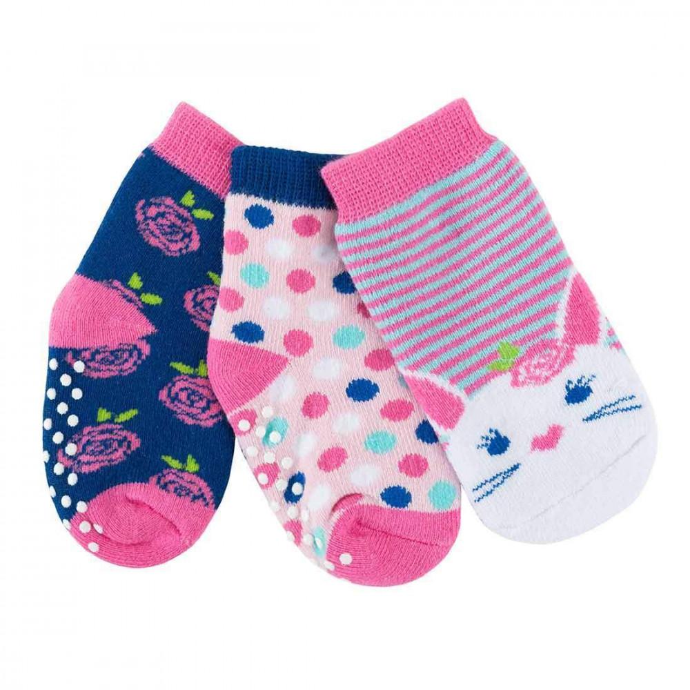 122-018-003 Zoocchini Set 3ks protišmykové ponožky Zajačik