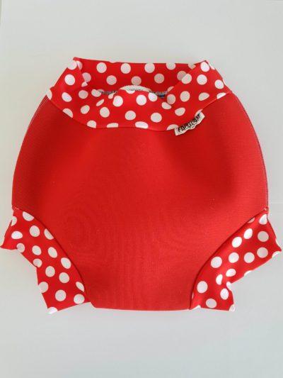 Swim nappy Neoprénové plavky Červené s bodkami XXL