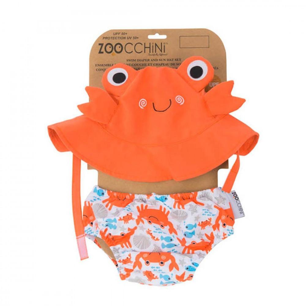 Zoocchini UV Set klobúčik a plavky Krab 6 - 12 m