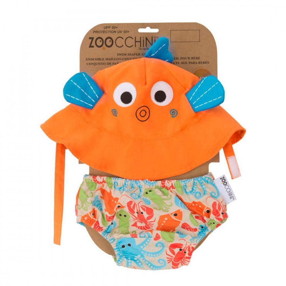 Zoocchini UV Set klobúčik a plavky Rybka 3- 6 m