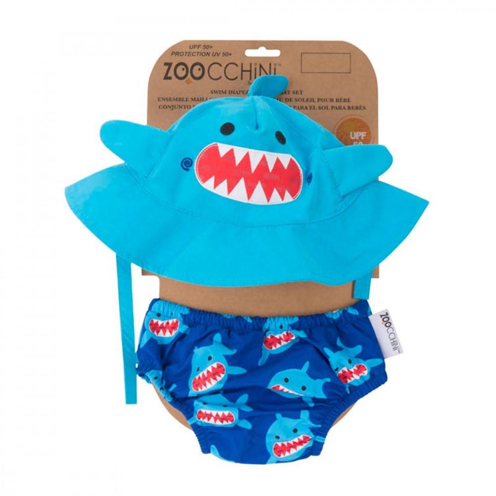 122-010-014 Zoocchini UV Set klobúčik a plavky Žralok 6 - 12 m