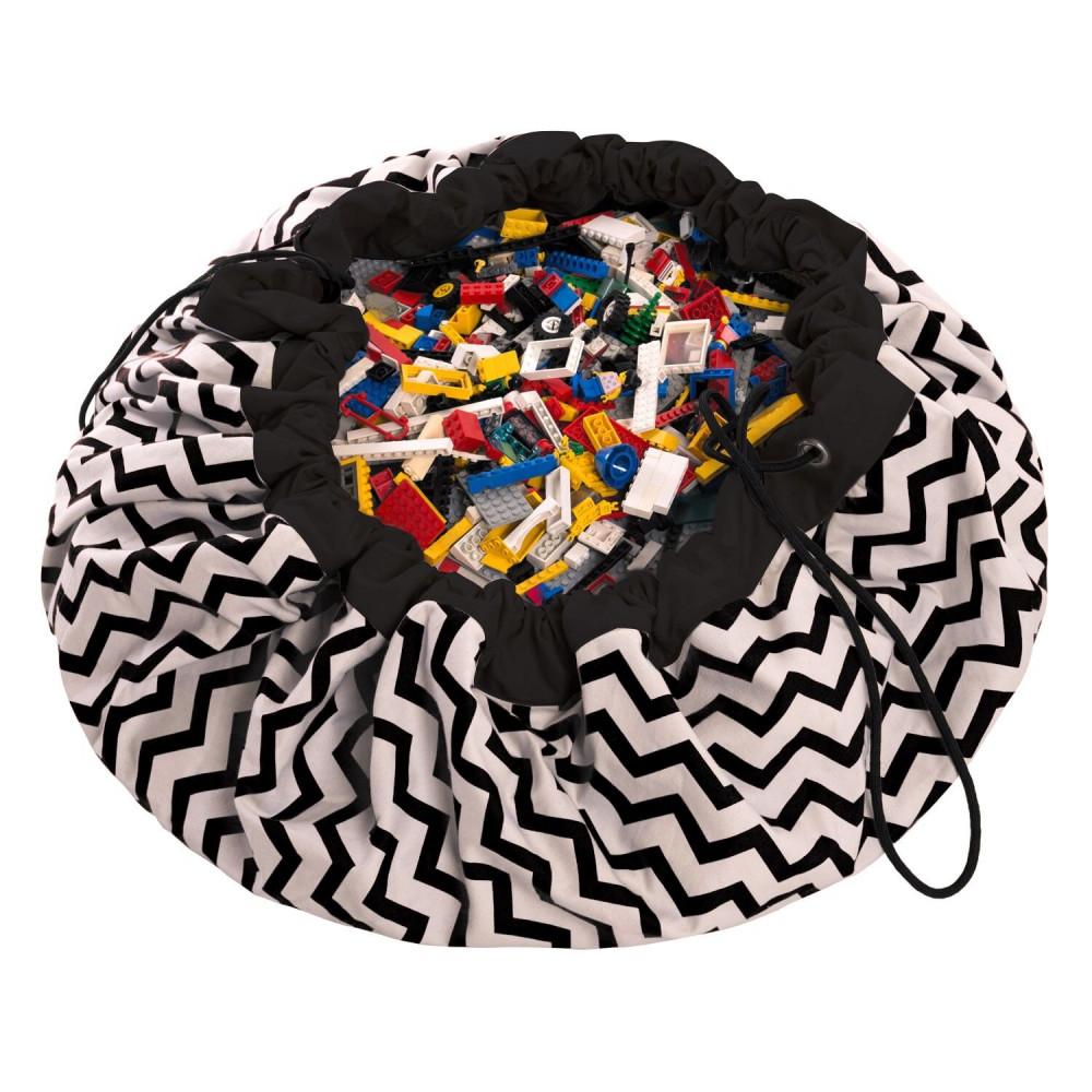 5425038799637 Play&Go vak na hračky Zigzag black