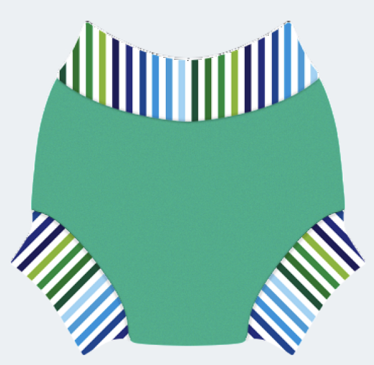 Swim nappy Neoprénové plavky Zelené s pásom L