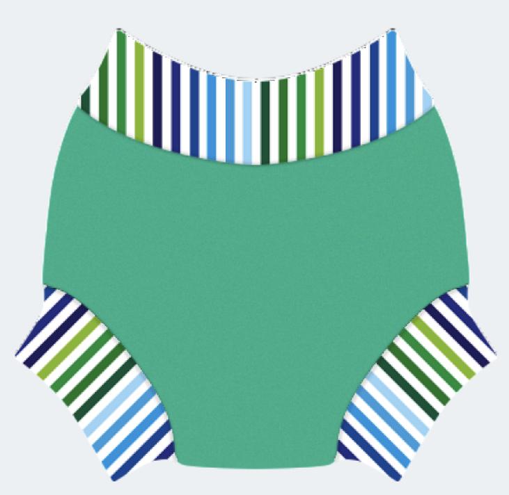 Swim nappy Neoprénové plavky Zelené s pásom XL