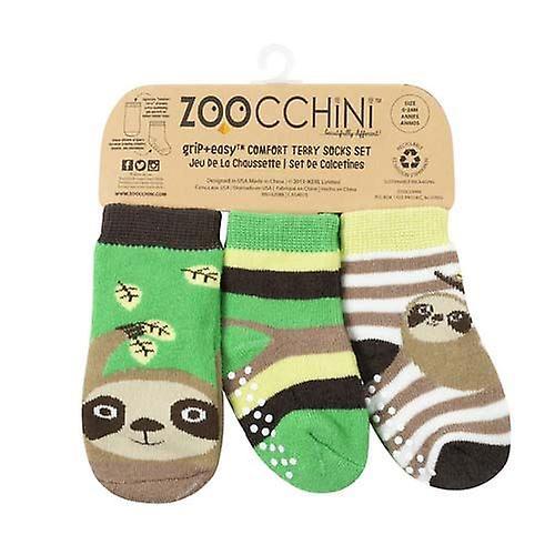 122-018-007 Zoocchini Set 3ks protišmykové ponožky Leňochod