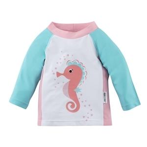 122-015-012  Zoocchini UV tričko Morský koník 50+ 6 - 12 m
