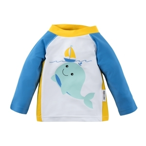 122-015-014  Zoocchini UV tričko Veľryba 50+ 6 - 12 m